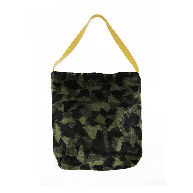 sweden camo pile jacquard shoulder-bag L