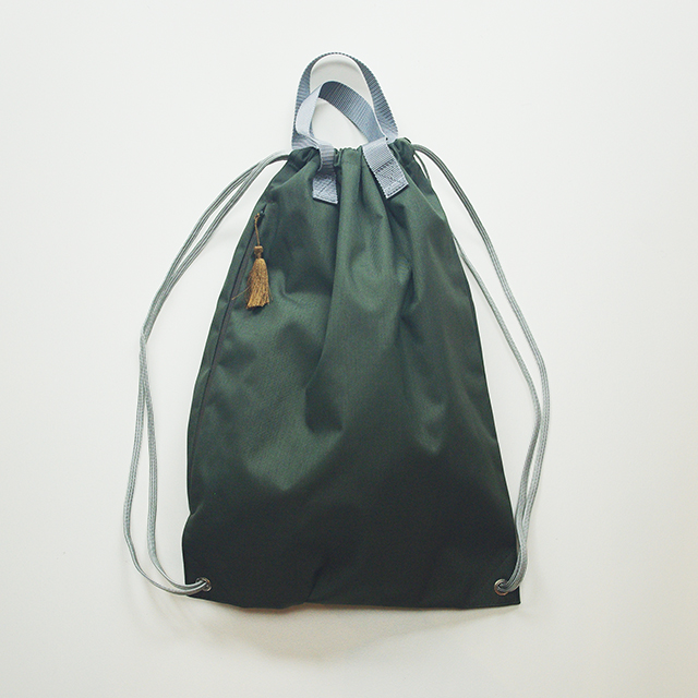 knappack with tassel/army green