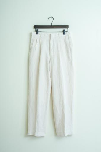linen rayon two-tuck tapered pants/beige