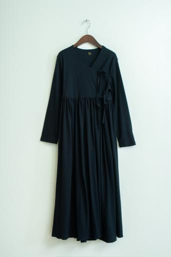 crepe cache couer dress/black