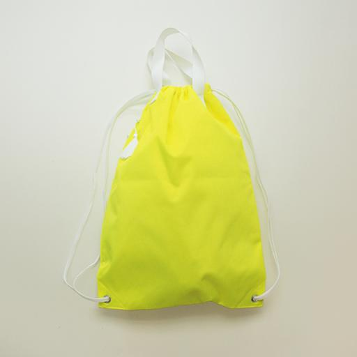knappack with tassel/fluorescent yellow