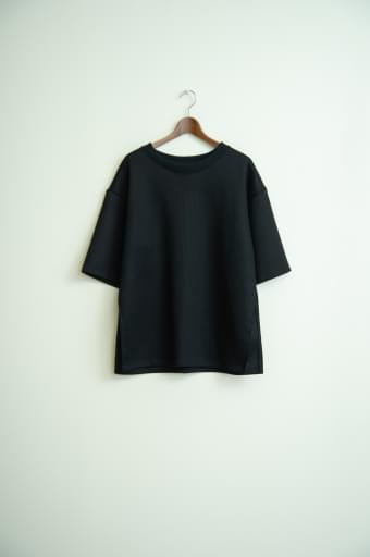 honeycomb over slit shirt/black