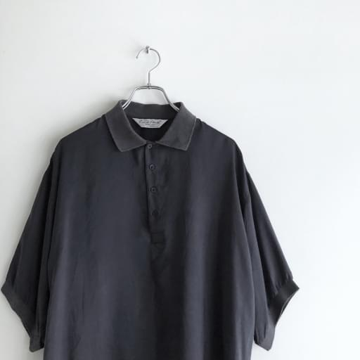 silk poro-shirt/black