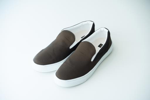 nylon chambray slip-on shoes/oak