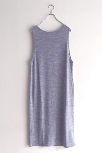 washable wool long dres/gray